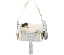 beads embellished shoulder bag - women