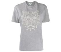T-Shirt mit Tigerstickerei