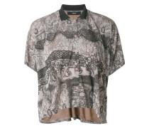 patterned floaty blouse