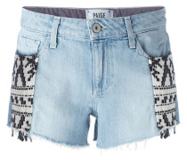"""Jeansshorts mit """"Mayan""""-Muster"""