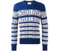 """Wollpullover mit """"Loved""""Muster"""