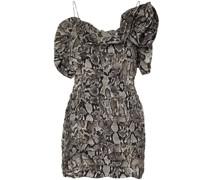 Schulterfreies Kleid mit Rüschen