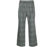loose-fit checked trousers