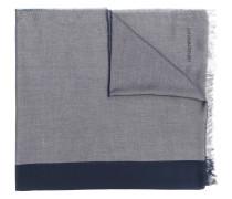 Zweifarbiger Schal mit Fransen