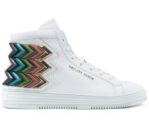 'Seventy' High-Top-Sneakers mit Chevron-Muster