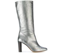 Metallische Stiefel mit hohem Absatz