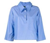 Cropped-Hemd mit kurzer Knopfleiste