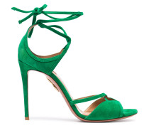 Green Nathalie 105 suede sandals