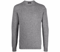ribbed-knit crew neck sweater