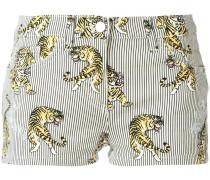 Shorts mit Tiger-Print - women
