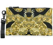 Baroque print clutch