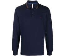 embroidered-logo stretch-cotton polo shirt