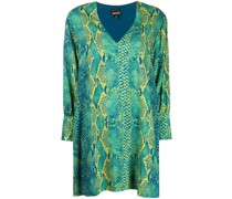 Kleid mit Schlangenleder-Print