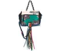 patterned tassel backpack