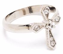 Ring mit kristallverziertem Kreuz