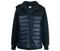 hooded high-neck quilted jacket