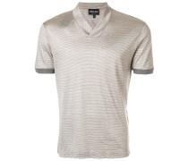 Gestreiftes T-Shirt mit V-Ausschnitt