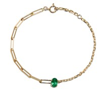 18kt Gelbgoldarmband mit Smaragd