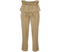 layered waist cropped trousers