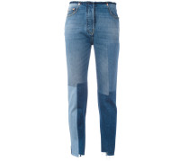 Cropped-Jeans im Patchwork-Look - women