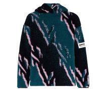 Fleece-Kapuzenpullover mit Print