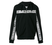 logo zip up sweatshirt