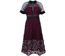 Kleid mit floralem Gittermuster
