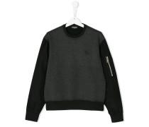 barbed wire embroidered sweatshirt