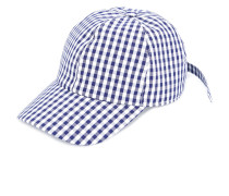 gingham panelled cap