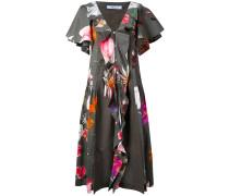 Kleid mit Volants - women - Baumwolle/Elastan