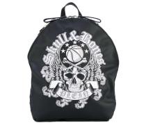 skull print backpack - men - Leder/Nylon