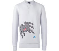 'Groovin Spider' Sweatshirt mit Stickerei