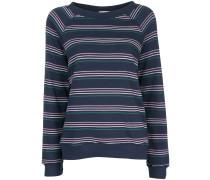 Gestreiftes Sweatshirt mit langen Ärmeln