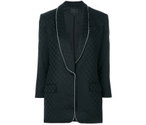 ball chained trim suit jacket