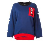 - Sweatshirt mit Kontrast-Patch - women