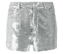 - metallic sequin shorts - women