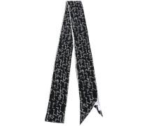 writing print scarf