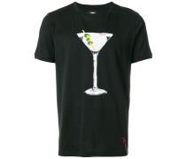 T-Shirt mit Martini-Print