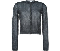 Cardigan im Metallic-Look