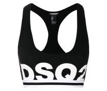 logo sport style bra
