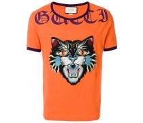 """T-Shirt mit """"Böse Katze""""-Patch"""