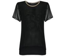 round neck silk tshirt