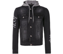 - Jeansjacke mit Kapuze - men - Baumwolle - XXL