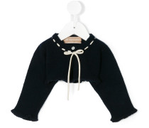 knit tied cropped jumper
