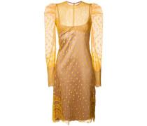 Semi-transparentes Kleid mit Puffärmeln