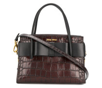 bow detail top handle tote