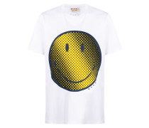 smiley-face print T-shirt