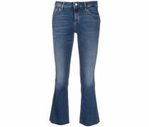 Gekürzte Bootcut-Jeans
