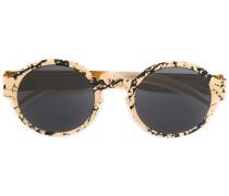 Runde Sonnenbrille mit Print