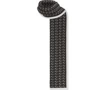 Intarsien-Schal mit FF